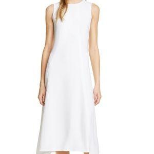 NWOT Lewit Crepe Seamed Sleeveless Midi Dress